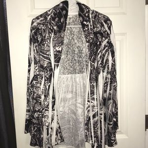 Style & Co funky cardigan.  Like new.